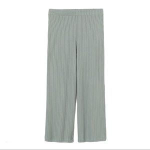 H&M+ Divided Ribbed Pants Sage Green Size XXL